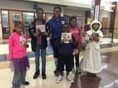 PBSS Center Director & Students during the Fall Costume Parade