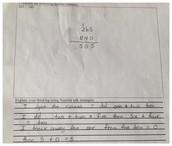 Student E-Written Response