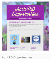 April PD opportunities