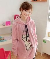 sueta de color rosa con gato