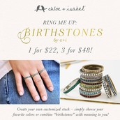 Birthstone Rings!  3 for $48 Deal!