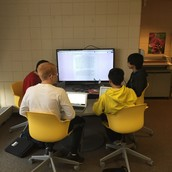 Mr. Schleper's English classes peer-editing with the media scapes