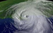The hurricane from a satellite view