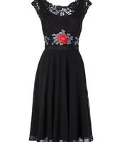 Vestido Negro-Azul