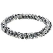Vintage Twist Bracelet--Silver