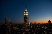 This shows what the Empire State Building looks like at night.