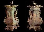 Wine Vessel with Lotus and Crane