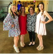 My sisters and mom!