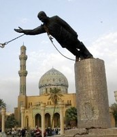 Statue of Saddam Hussein Brought Down