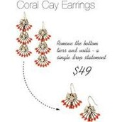 Coral Cay Earrings - wear multiple ways