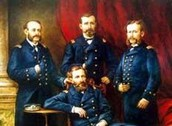 Miguel Grau and his navy officers