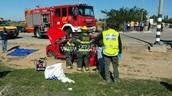 זירת האירוע כביש 293 וכחות ההצלה