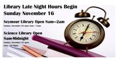 Extended Library Hours!