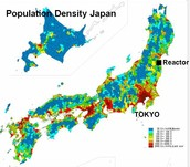 Population map of Tokyo
