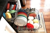 Wash dishes only when you can make the dishwasher full!