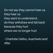 Do Not Say They Cannot Hear Us: THGC Workshop on Teaching the Holocaust and Genocides - AUSTIN