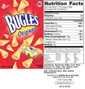 Bugles Nutrition Facts