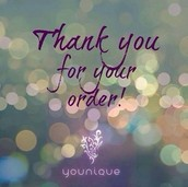 Thank you so much for your Younique order!