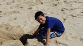 A little sand. . .