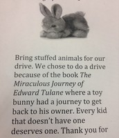 Stuffed Animal Toy Drive Flyer
