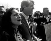 Huerta and Senator Kennedy