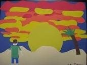 Sunset Paper Art