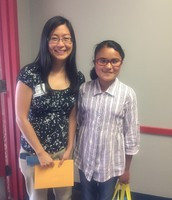 Dr. Renee Nieh (Samsung) with her 5th grade mentee Jennifer Rodriguez-Bravo