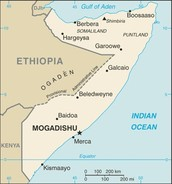 Map of The Federal Republic of Somalia
