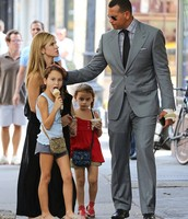Alex Rodriguez With His Wife And Kids!