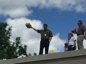 Dr. Brown tossing them off the roof!