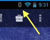 Check the bluetooth icon