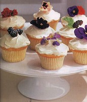blossom topped cupcakes