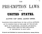 Preemption Act of 1841