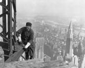 New York City- Man working on Skyscraper