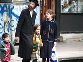 Hasidic Jewish family in Brooklyn
