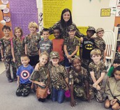 Spirit Week - Camo Day!