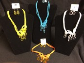 Knotted Necklace and Earring Set