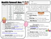 Homework Menu