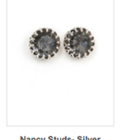 Silver Nancy Studs  Reg $24 ~ Sale $12
