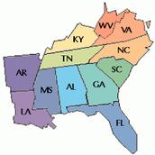 Southeast Map Region Weekly Quiz
