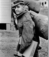 Elvis was drafted into the army.