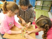 Building a bridge with toothpicks and gumballs