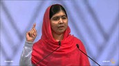 Malala standing up for women's education