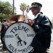 A Mardi Gras parade in Treme