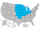 Were the Midwest region is located