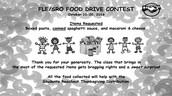 FLE/SRO FOOD DRIVE CONTEST