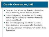 1982 Garn-St Germain Depository Institutions Act
