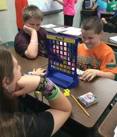 Connect Four Math style in Mrs. Pyland's room