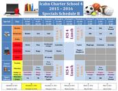 Specials Schedule B (November 2nd - December 18th)