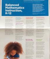 PDSB Balanced Mathematics Instruction K-12 Poster